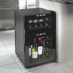 Wine Enthusiast Silent 24 Bottle Dual Zone Touchscreen Wine Refrigerator at Wine Enthusiast - $269.99