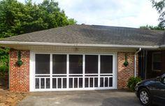 Homemade screen doors for garage door opening love this idea plus screened garage door enclosure httpjo ann growingingrace201412screened garage door enclosureml solutioingenieria Images
