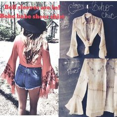 ✨PRICE DROP✨ COACHELLA SALE✨HP✌️BOHO TOP Sheer boho chic peasant top! ✌️ by White House Black Market! Long sheer bell sleeves! Peter Pan collar! Button front and gorgeous detail! Offers welcome excellent condition! White House Black Market Tops Blouses
