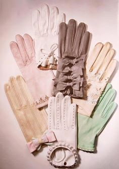Going to town shopping? Going to Church? Up until 1960s gloves were part of your wardrobe.