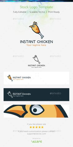 Instant Chiken Stock Logo Template — Vector EPS #cook #silhouette • Available here → https://graphicriver.net/item/instant-chiken-stock-logo-template/9699124?ref=pxcr