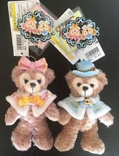 Duffy and Shellie May Plush Badge set Christmas 2013 Tokyo Disney Sea JAPAN