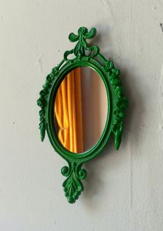 Decorative Mirror in Vintage Emerald Green Frame - Revived Vintage