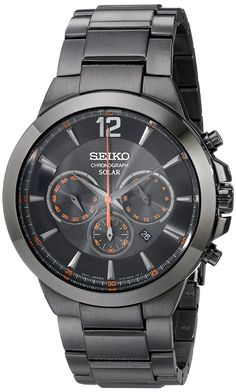 Seiko Mens SSC323 Analog Display Analog Quartz Black Watches