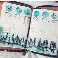 Bullet journal inspiration... (@bullet_journaling_it_is) on Instagram - for ex. could it be a Scottish highlands?