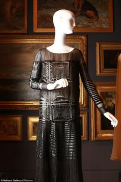 French designer Jeanne Lanvin designed this silk evening dress in 1925 for theLanvin fashion house in Paris