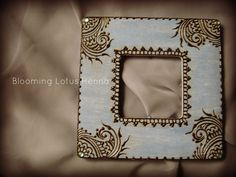 Indigo Paisley Corners Henna Picture Frame | Flickr - Photo Sharing!