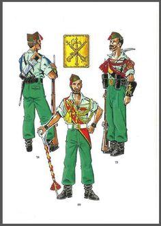 """Uniformes de la legión. Fuerzas """"nacionales"""""""