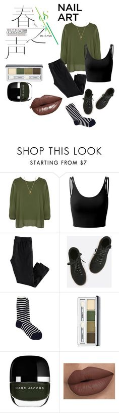 """""""Wishing Season - Nail Art"""" by alphaom3ga713 ❤ liked on Polyvore featuring beauty, WearAll, Doublju, H&M, Antipast, Clinique and Marc Jacobs"""