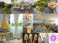 Yellow & Gray Wedding Color Themes http://www.weddingcolorthemes.com/wedding-color-themes/