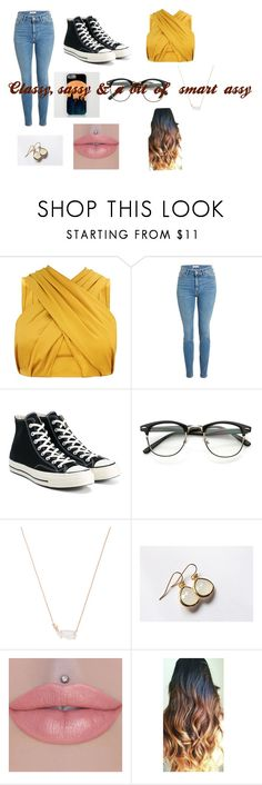 """""""If if Disney princesses were in the 21st century - Belle"""" by hufflepuffprincess101 ❤ liked on Polyvore featuring Converse, Kendra Scott and Honour"""