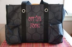 The Zip-Top Organizing Tote makes a great bag to store your yarn and hooks!