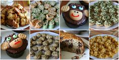 monkey themed baby shower food