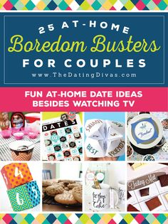 At Home Date Ideas - perfect for those nights when you want to get away from technology!