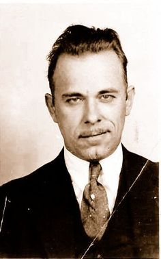 John Dillinger- 1930s Gangster Real men are old school gangsters:)