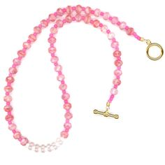 #PinkNecklace #ValentineNecklace #PinkBeadNecklace #RoseQuartz by LehaneArts #Group2020