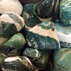 #New Arrival!!!  Green Sardonyx~  Promotes growth, fertility & abundance. A stone of strength and protection. Used to enhance willpower, integrity, stamina and vigor. Believed to bring lasting happiness and stability to marriage and partnerships. #HealingCrystals