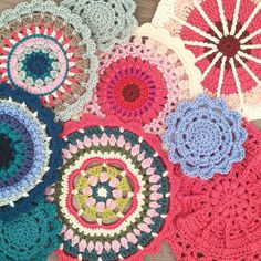 So pretty all together, including some lovely patterns by @redagape_styleanddesign and @mobiusgirl. Now to stop messing around and clean the house. I also seem to be drawn to the same colours over and over again I noticed #mandysmandala #sunnysideupmandala #puffsandpicotsmandala #crochetmandala #crochet #craftastherapy #craftastherapy_rainbowconnection #crochetlove #crochetaddict #crochetersofinstagram #instacrochet #makeitsewcial