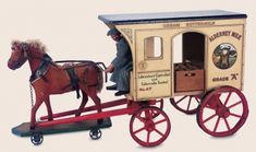 Dance of the Hours: 28 Very Rare American Alderney Milk Wagon with Horse and Driver by Schoenhut