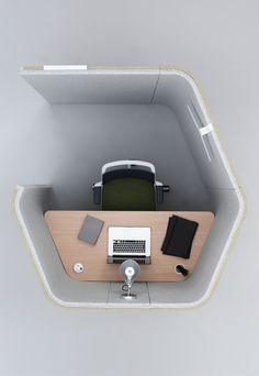 Haven Pods nestle and tessellate to maximise available space, allowing the creation of a community of environments and destinations. Haven Pods are ideal for either an individual within a desk based environment looking for a space to focus or for teams to gather for impromptu meetings.