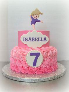 birthday cake for gymnast