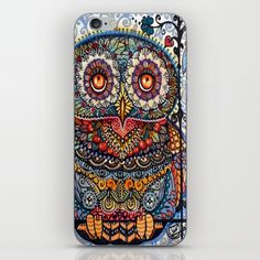 Magic  graphic owl  painting iPhone & iPod Skin