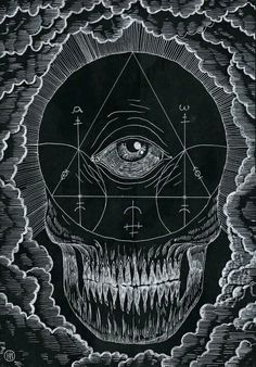 skull with magick symbols Art And Illustration, Illustrations, Magick, Witchcraft, We All Mad Here, Art Noir, Arte Obscura, Occult Art, Mystique