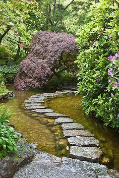 Beauty that invites...    The Japanese Garden in Buchart Gardens, Victoria, BC.