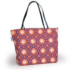 Clemson Tigers Game Day Shopper Tote, buy it online at www.TotallyCollegiate.com.