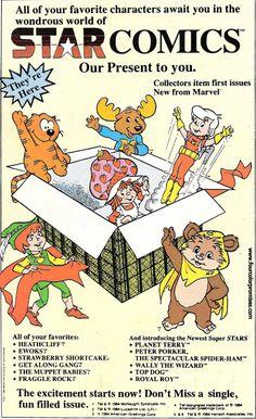 Four Color Promises Children's Comics, Star Comics, Muppet Babies, Nick Fury, Strawberry Shortcake, Captain America, Geek Stuff, Presents, Comic Books