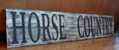 HORSE COUNTRYLarge Rustic hand painted wood by CherryCreekCrafts