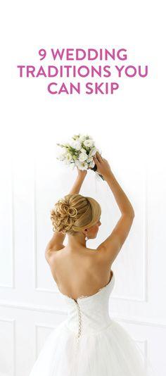 wedding traditions to ignore #weddings #bride