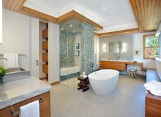 Get inspiration and bathroom design ideas from these stunning, professionally designed baths — the finalists in the National Kitchen and Bath Association's 2015 competition. Best Bathroom Designs, Bathroom Design Luxury, Kitchen And Bath Design, Bathroom Trends, Bathroom Design Small, Bathroom Ideas, Bathroom Images, Spa Like Bathroom, Ensuite Bathrooms