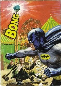 1966 Batman trading card artwork by Norman Saunders