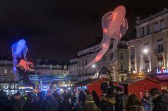 #SoleilsdHiver Des balades et déambulations viendront animer le centre-ville d'#Angers, notamment le week-end et pendant les nocturnes. (Photo: Thierry Bonnet/Ville d'Angers)
