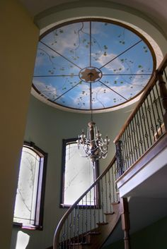 Chicago Ceiling Murals, Sky Mural, Cloud Mural, Faux Finishes