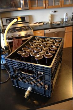i usually use my dishwashers sanitize function MalFet's bottle washer for lazy homebrewers - Home Brew Forums Brewing Recipes, Homebrew Recipes, Beer Recipes, Brewery Equipment, Home Brewing Equipment, Home Brewery, Home Brewing Beer, Bottle Washer, Bottle Cleaner