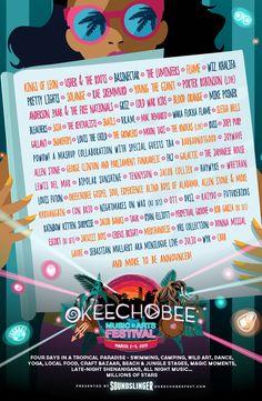 Festival Guide 2017 Art Posters Concert Poster Ideas Music Festivals Okeechobee Menu