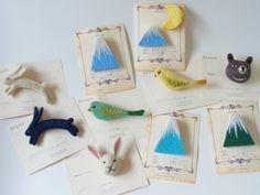 Brooch collection by Felt Fulling Lab-Ryoko Hirota]