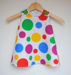 Rainbow Baby Toddler Dress  Jumper Dress  by KKchildrendesigns, $35.00