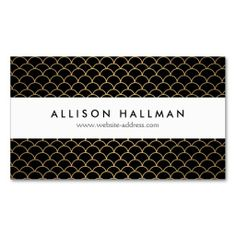 Gold Art Deco Pattern Business Card Template