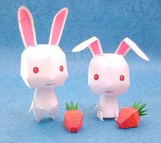 FREE Printable Cute Bunnies Paper Toys