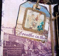 Scrapbooking - Mini álbum conchas Junio 2016