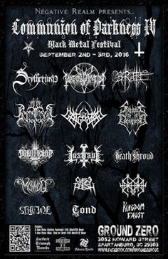 Long Live The Loud 666: COMMUNION OF DARKNESS IV BLACK METAL FESTIVAL WITH...
