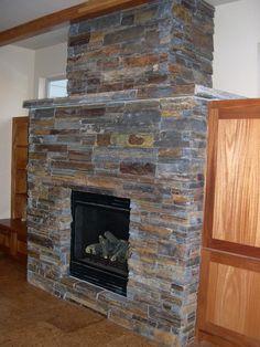 Bitterroot Ledgestone Fireplace