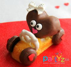 Candy car at a Valentine's Day Party!  See more party ideas at CatchMyParty.com!  #partyideas #valentine