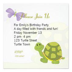Pop Turtle Invite