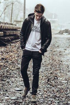 Men's Fashion, style, hot, hair style, man, street style, fashion, beau monde, shoes, pants, shirt, t-shirt, jacket, photo, amazing, riki, riekus raaths