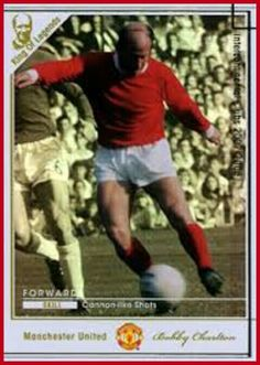 Intercontinental Club Legends card - Bobby Charlton of Man Utd.