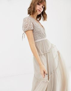 Order Needle & Thread embroidered tulle maxi dress with cap sleeve in rose online today at ASOS for fast delivery, multiple payment options and hassle-free returns (Ts&Cs apply). Get the latest trends with ASOS. Occasion Wear, Special Occasion Dresses, Clothes 2019, Dress Rings, Bridesmaid Dresses, Wedding Dresses, Needle And Thread, Cap Sleeves, Designer Dresses